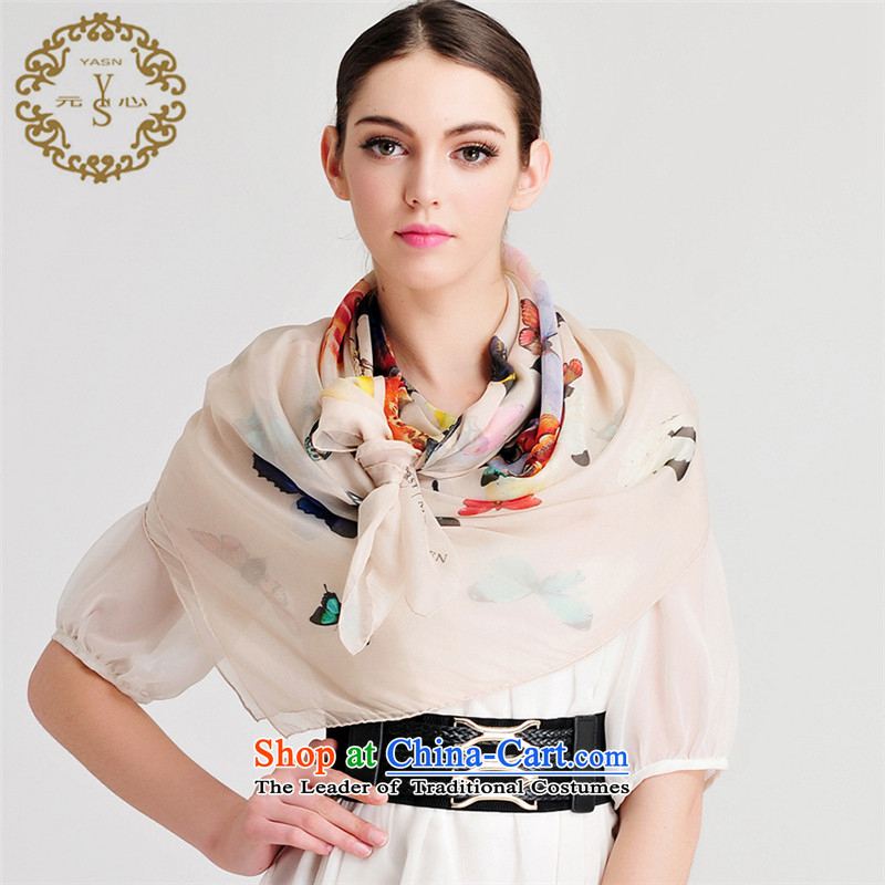 Silk scarves and classy soft towel Fancy Scarf upscale stylish black butterfly masks in autumn and winter manually new nude