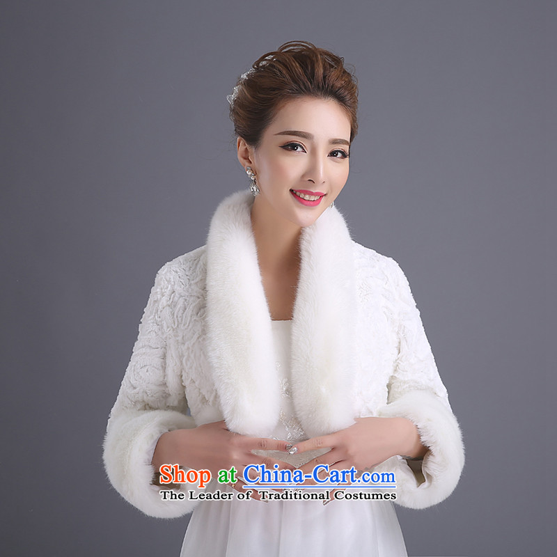 Nonew 2015 bride embroidered wedding services qipao gross shawl bridesmaid marriage jacket bride shawl white autumn and winter
