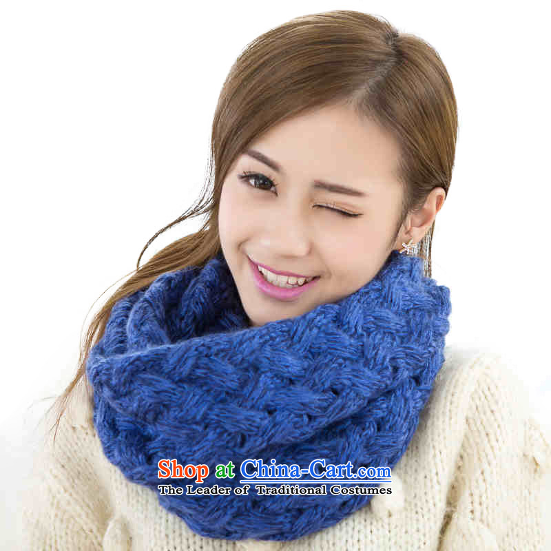 An Anthology CHEGEE autumn and winter warm knitting twist a female couple of knitted Thick Blue