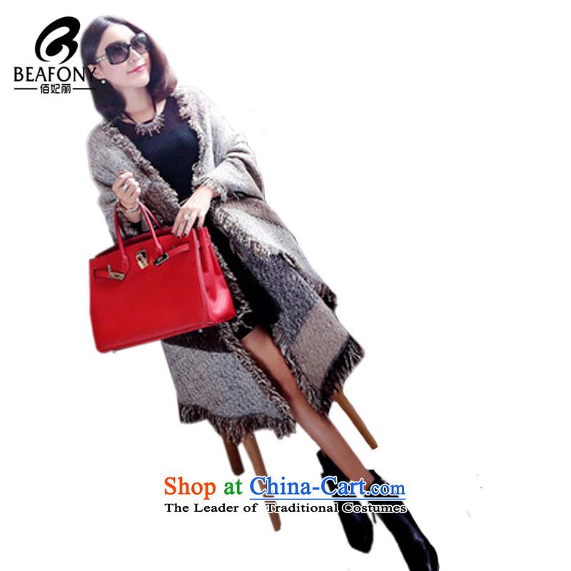 Bai Fei Li dongqiu new thick hair? angled large shawl ultra-heating quality scarfLC74khaki see commodity Properties