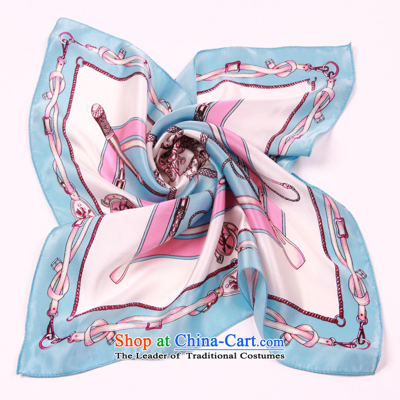 Shanghai Story silk scarves silk scarf Ms. Santos also small towel classic chain - Blue