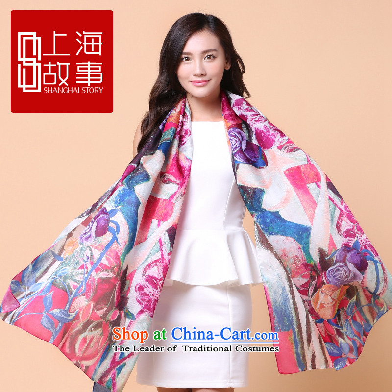 Shanghai Story counters silk scarves scarves, long herbs extract air-conditioning shawl stunning Flowers of Shanghai S strong - purple 180cm*110cm, Shanghai Story STORY IN SHANGHAI) , , , shopping on the Internet