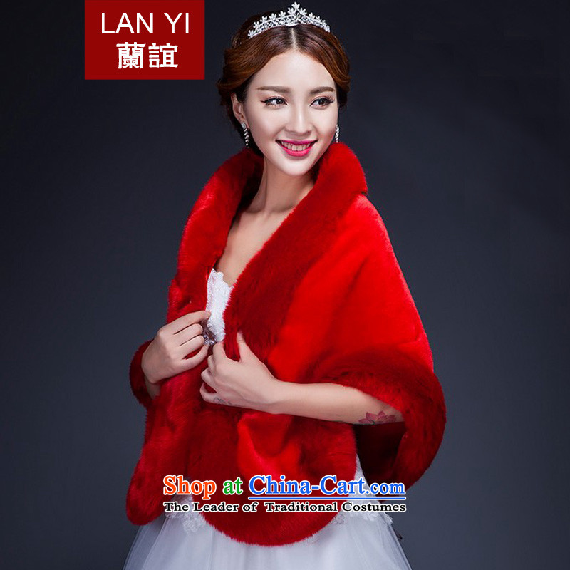 In 2014 the new bride friends winter shawl marriages wedding dress Warm thick winter accessories Red Shawl G, gross