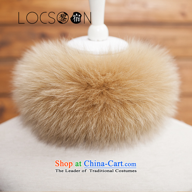 Lai places a fox LOCSOON gross fur a fox Maomao collar without collars coats gross for the autumn and winter for a warm light and color model