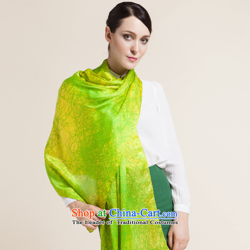 Upscale silk 2015 High wild herbs extract the scarf of autumn and winter long silk scarves women cape as well as ideal gifts for heart courage thread Valentine's Day Gift heart courage thread - light green