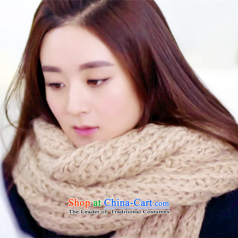 Lin, butterfly mohair a long thick autumn and winter warm scarf shanshan to the same Chiu Lai Ying Knitting scarves knitted extension warm a Korean version of the scarf shanshan with beige