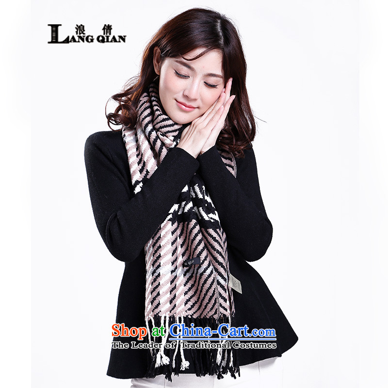 Wave Chien scarf unisex thick wool scarf stylish classic grid plaid wild classic scarf gray cells, Wave Chien (LANG) has been pressed. QIAN shopping on the Internet
