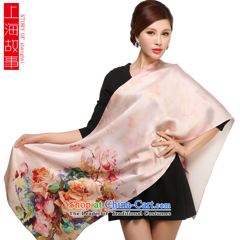 Shanghai Story 2014 new products silk scarves, herbs extract scarf autumn and winter increase of broadening the chiffon poster long 1 Dust edge unreal