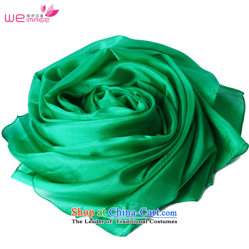 Micro-el-impression of solid color silk scarf silk scarves, stylish and elegant sauna silk shawls of wild color silk scarf female emerald 1956