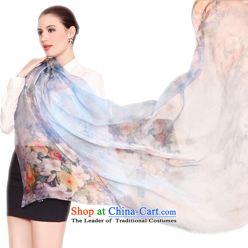 Che-kwan flowers of tasteful minimalist China wind stylish and classy lady sauna silk scarves Ms. Long new silk scarves long towel, Hung-kwan has been pressed Purple Shopping on the Internet