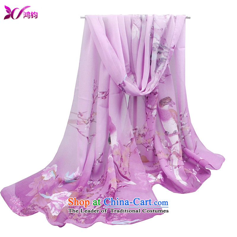 Che-kwan 2015 new stylish korea long trend of Korean President Fancy Scarf dual-use silk scarf mature and classy lady emulation silk scarves silk scarf 1_ violet kissa