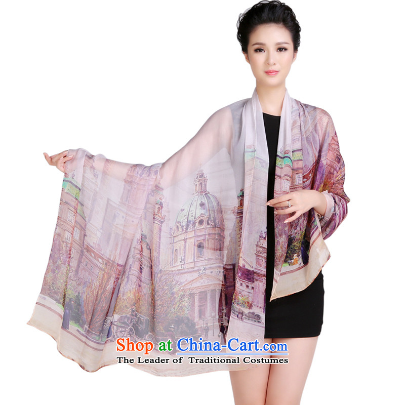 Shanghai Story herbs extract silk scarves, Fancy Scarf use two late autumn King Building