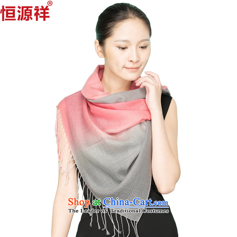 Hengyuan Cheung autumn and winter Ms. wool scarf edging long increase female gradients shawl wooler scarf X25_ Gradient