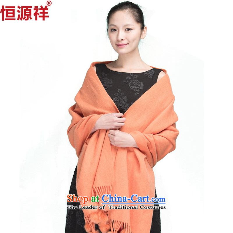 Hengyuan Cheung of autumn and winter, wool scarf edging increase long shawl scarves thick with two4# orange