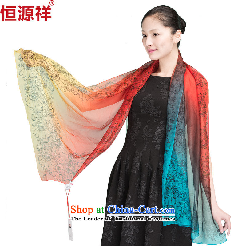 Ms. Cheung Hengyuan silk scarfs 100 herbs extract female summer small silk scarf Korean female sunscreen long suit 1324-3# Masks
