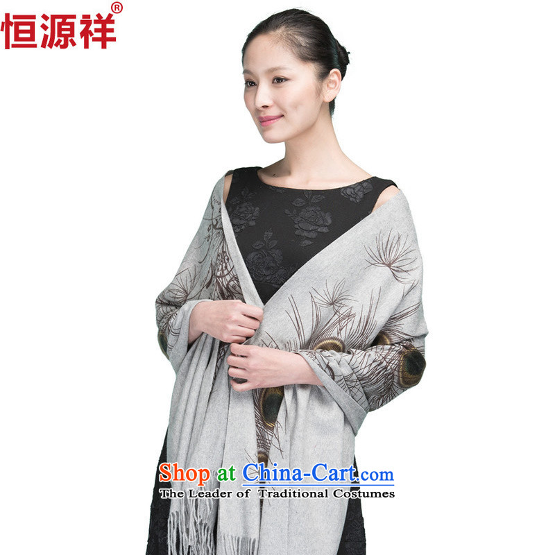 Hang Cheung autumn and winter, source, peacock tattoo pashmina shawl warm thick gray two-tail
