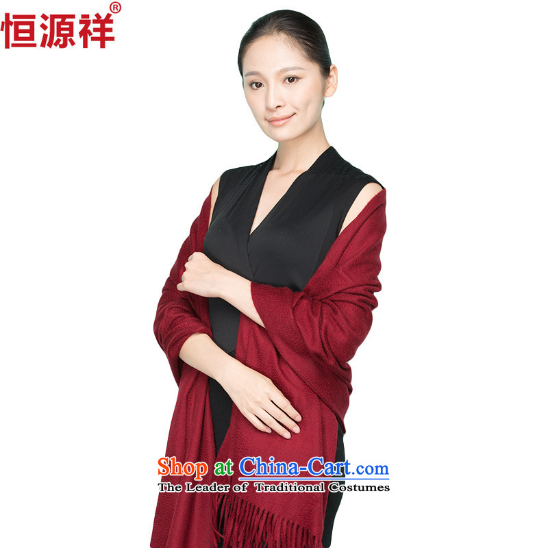 Hang Cheung new products of the source color long pashmina autumn and winter, autumn and winter Thick plain color large shawl wine red