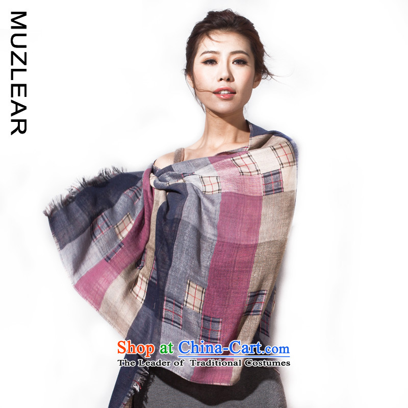 Lee Chun new MUZLEAR2015 cotton linen large compartments scarves, wild silk scarf shawl blue rose