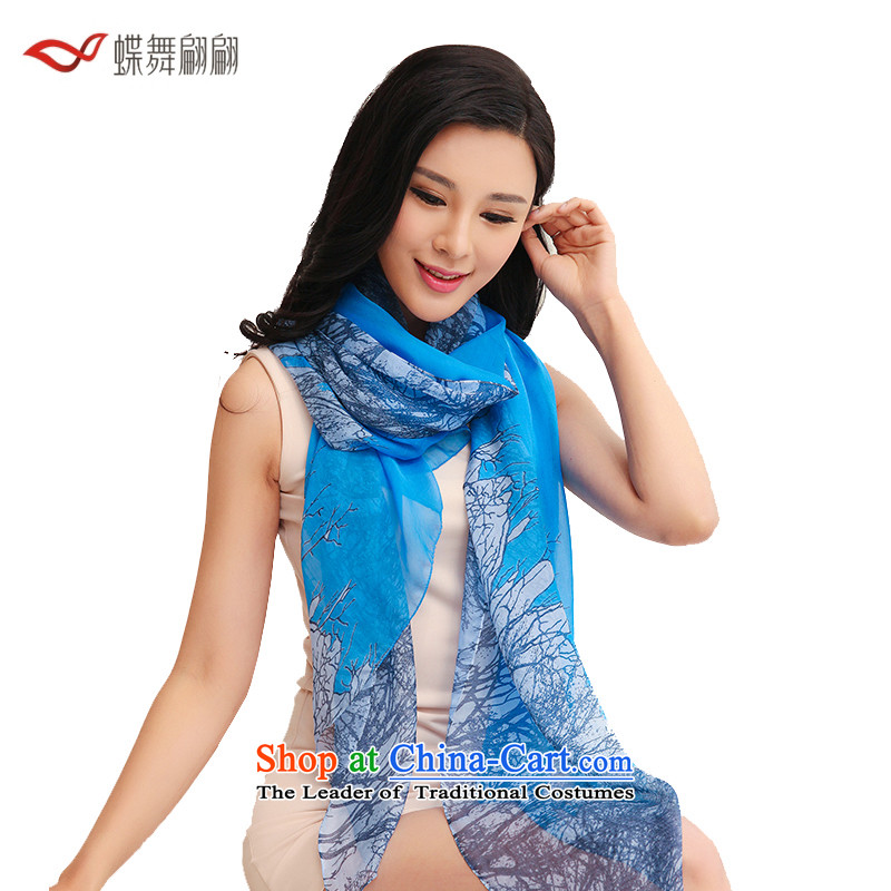 The Butterfly Dance medley of silk scarves autumn 2015 the new president of the scarf of ruyi shawls stylish courage - Blue