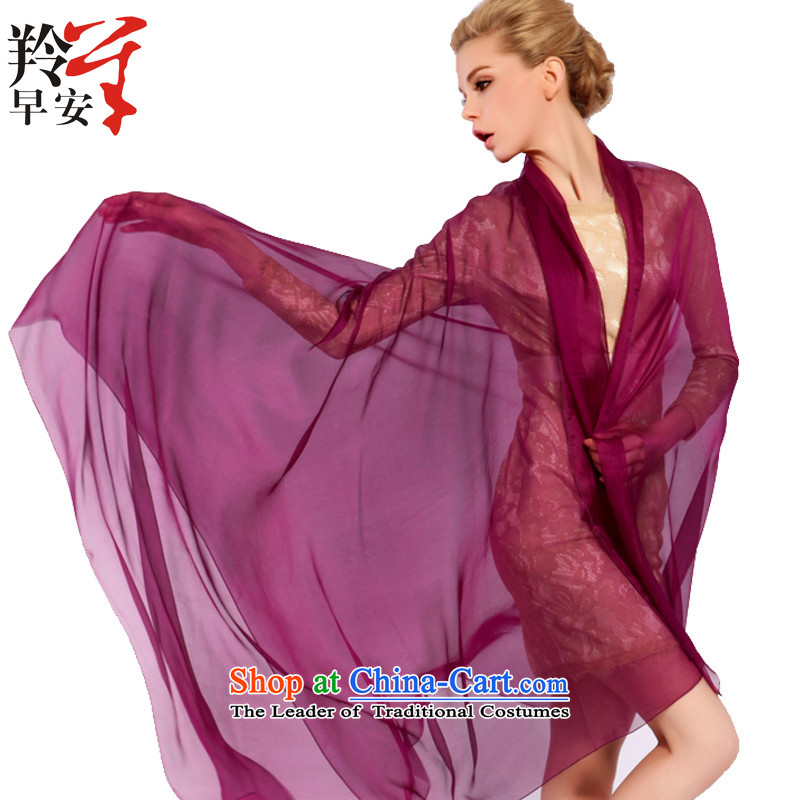 Good morning herbs extract spring and autumn antelope silk scarf silk scarf shawl innocence with two hour - Purple