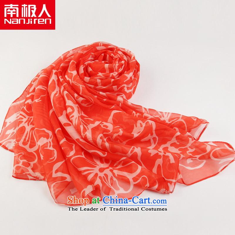 Antarctic nanjiren (Ms.) Emulation silk scarves long chiffon shawl masks in the tenderness of red, like water Antarctic (nanjiren) , , , shopping on the Internet