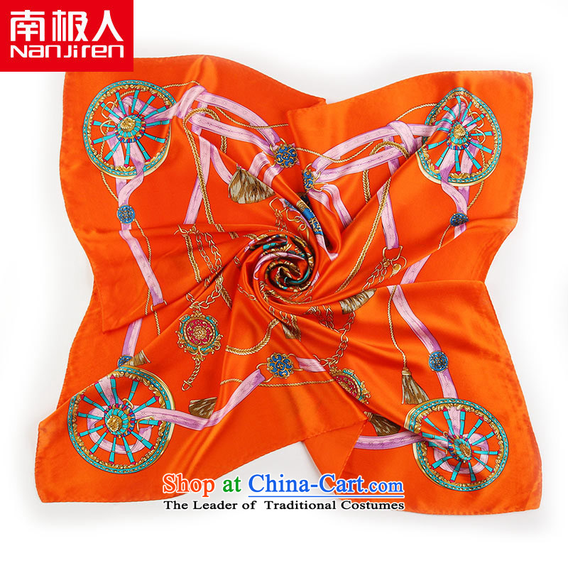 The Antarctic (nanjiren silk scarf) and Ms. Santos silk scarves workshops royal classic orange