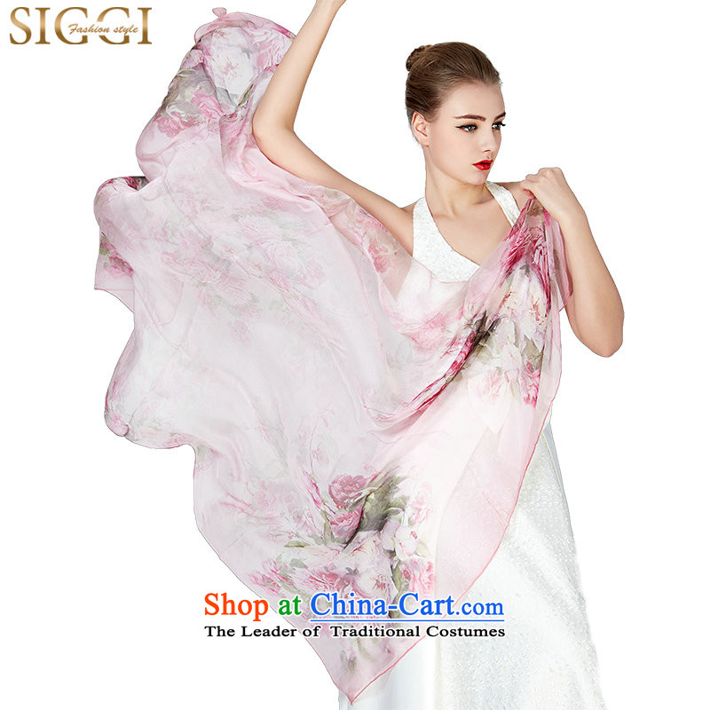 Siggi 100 herbs extract silk scarves Ms. long elegance silk scarfs herbs extract shawl China rose about 175*110CM - Pink