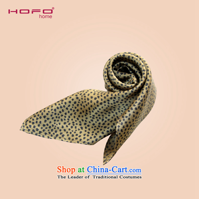 Upscale natural herbs extract HOFO small towel silk scarfs Leopard Stamp Ms. stylish colors silk scarves聽 2490553 small聽Golden Leopard 55_55