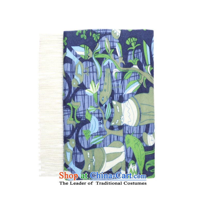 Erdos cashmere shawls 150*30wm new water flow su scarves stamp green -150X30 -350