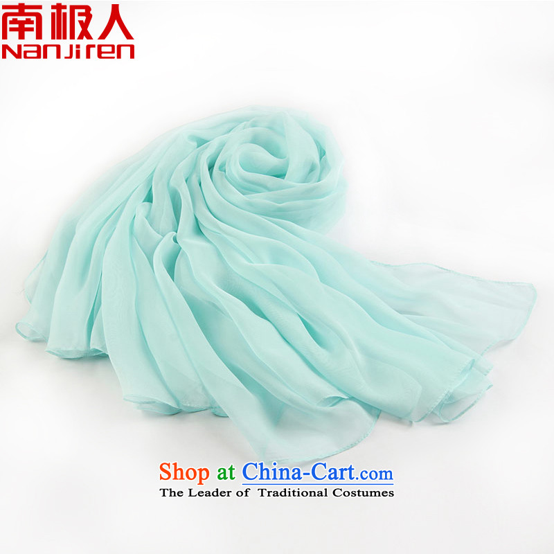 Antarctic people new 2015 Spring/Summer silk scarf intensify specifications of snow spinning color long towel water blue