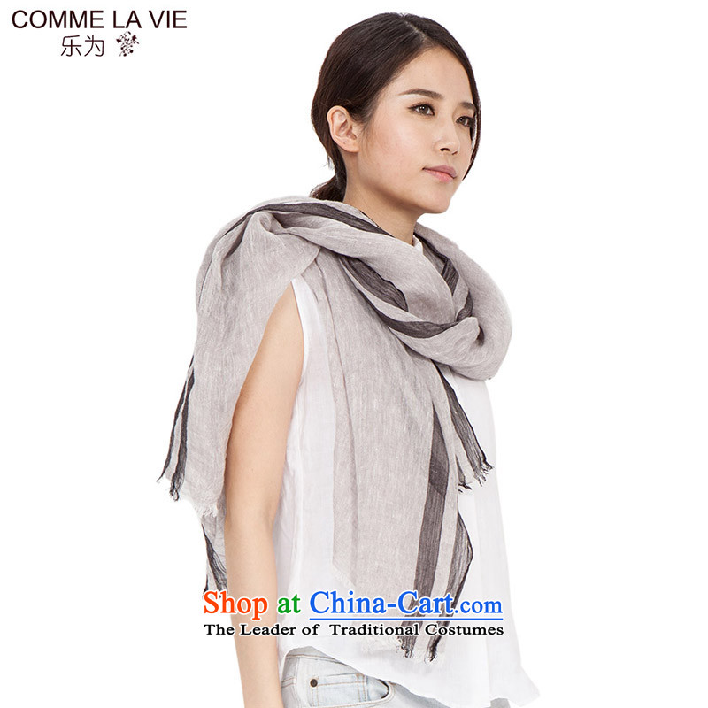 As Ms. scarves autumn and winter linen new arts and cultural leisure long towel 15FC106 thin gray