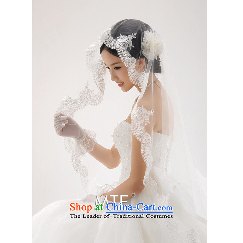 The Korean version of the new 2015 wedding dresses accessories angel lace Princess Bride ivory wedding 1.5 m and legal White