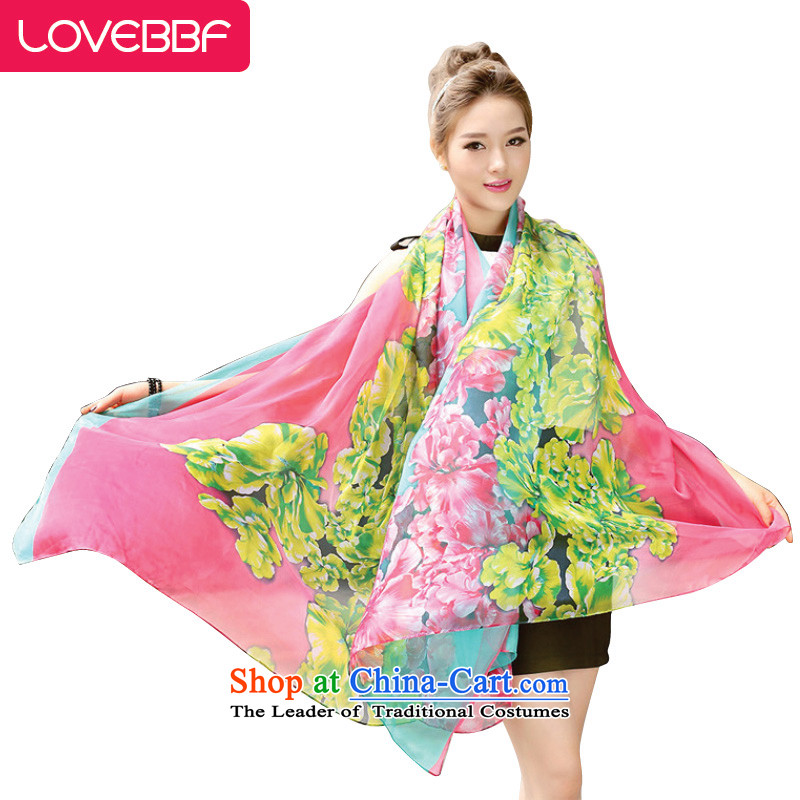 Extra-long LOVEBBF women silk scarf beach towels Sun flower girl scarfSJ-02 shawl electoral QC as the red are code