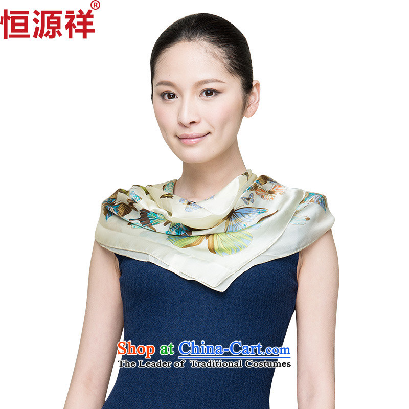 Hengyuan Cheung herbs extract silk scarf spring and autumn snow spinning towel Ms. shawl silk scarfs masks in classy and towel聽166_