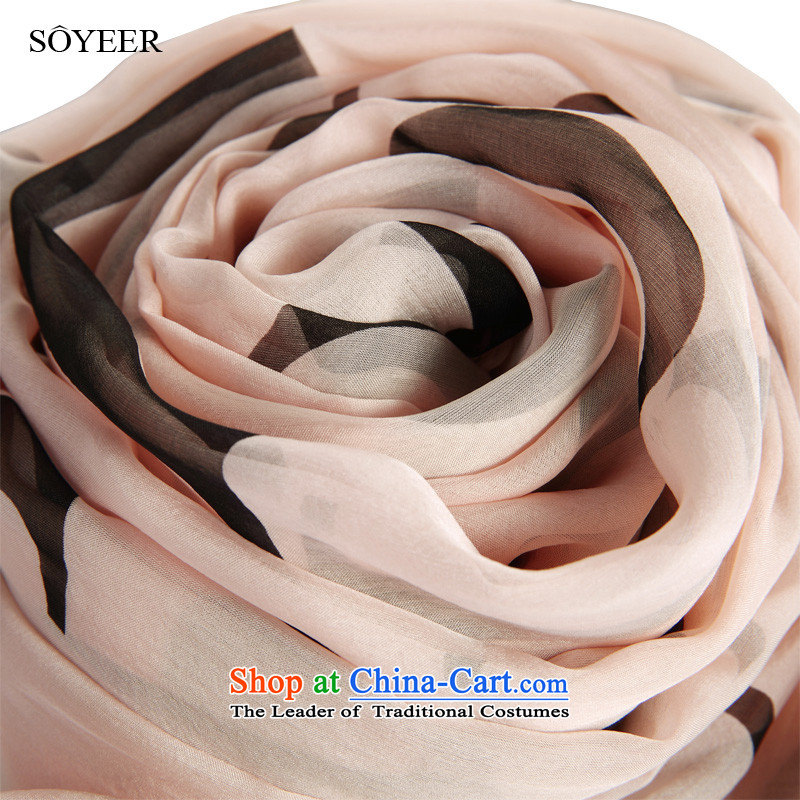 A large letter temperament Europe SOYEER upscale silk scarfs wild female long herbs extract silk scarf silk shawls recommended size 200*130cm