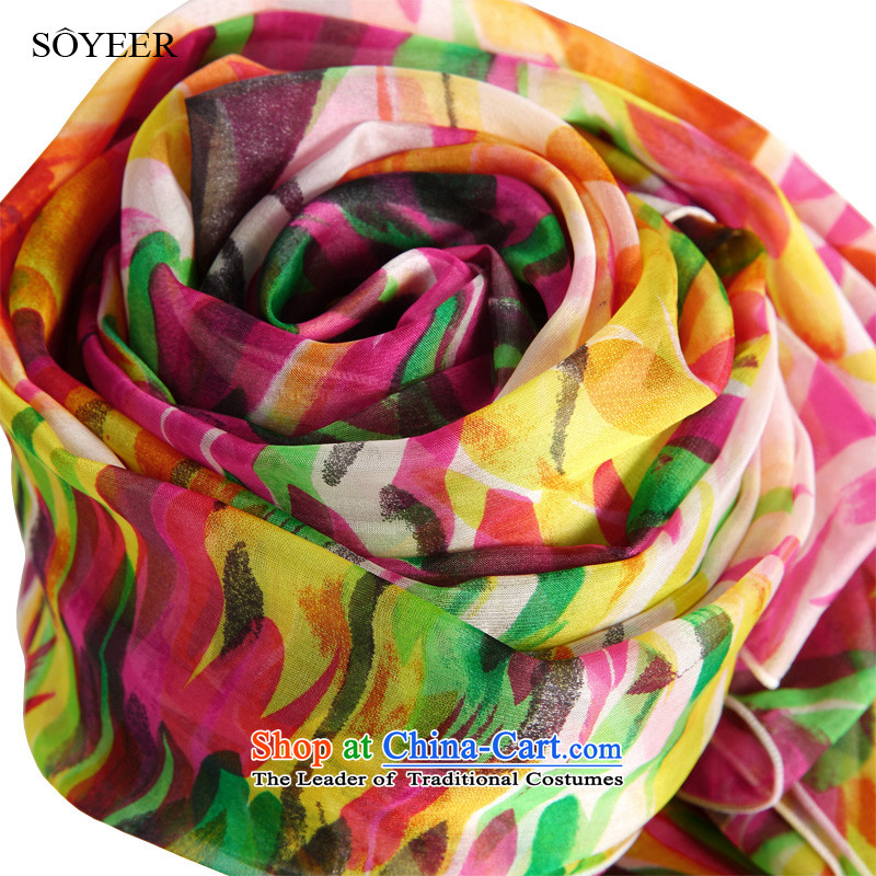 The spring and autumn Girl Exclusive SOYEER silk scarfs elegance stamp long sauna silk scarves silk shawls recommended size 200*130cm