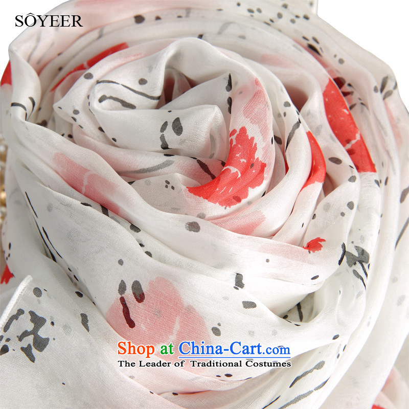 In spring and autumn SOYEER silk scarf sexy lips stamp upscale silk scarves Korean wild herbs extract recommended size 200*130cm Fancy Scarf