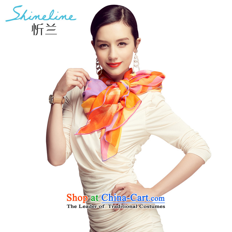 The Central LAN silk scarf 2015 new Korean version 100 herbs extract silk scarf turban, Long Dancing Melody with two purple