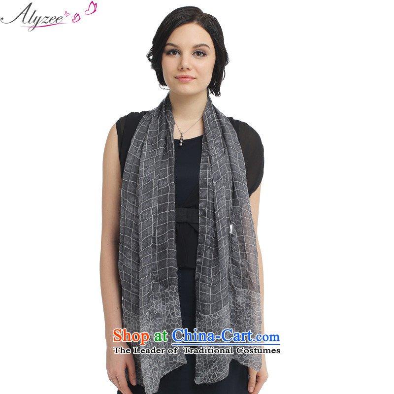 The situation of the champs alyzee spring and summer new products silk scarfs sunshade silk scarf Pure Herbs Extract Gray