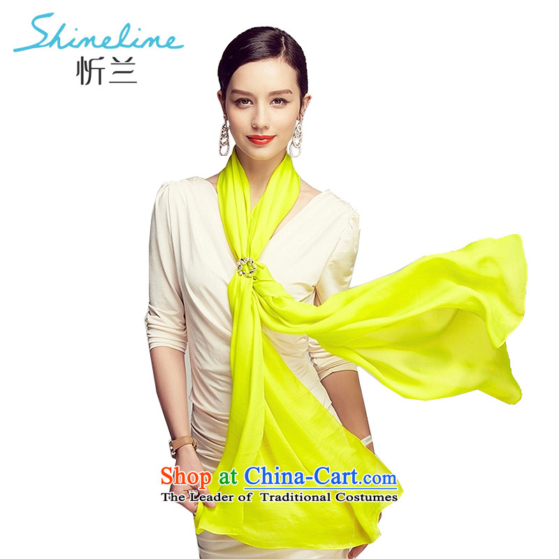 The Central LAN silk scarf spring and summer 2015 silk sunscreen pure color beach towel Big saunas silk shawls long the variation of yellow