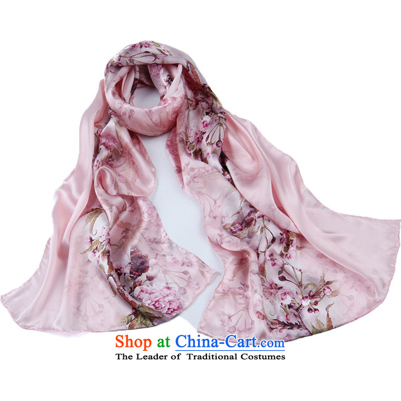 Shanghai Story long silk scarf painting process herbs extract Classical China wind satin silk scarfs聽6_