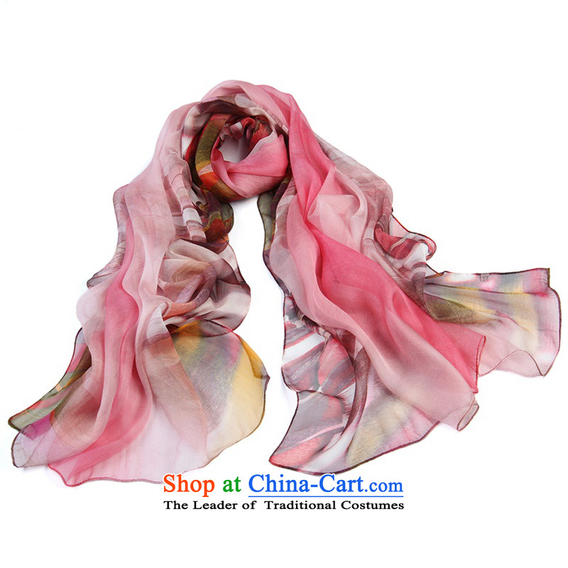 Shanghai Story chiffon poster long silk scarf plus large size herbs extract silk scarfs 7#