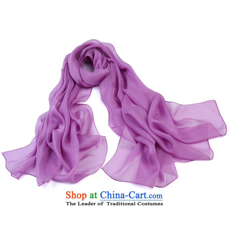 Shanghai Story Of The chiffon colored silk Korean extralong wild herbs extract silk scarfs 4# Purple