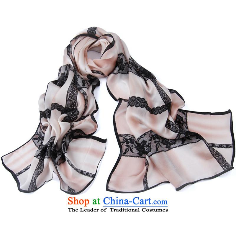 Shanghai Story Silk Satin Western latticed herbs extract wild silk scarfs2#