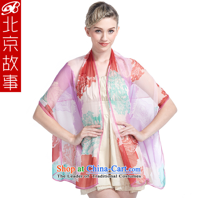 Beijing 2015 new story silk scarf female silk long towel and sunscreen silk scarf air-conditioning shawl two use toner Purple