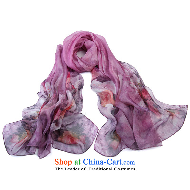 Shanghai Story herbs extract ultra-wide silk scarf silk chiffon Ms. poster silk scarf 5#