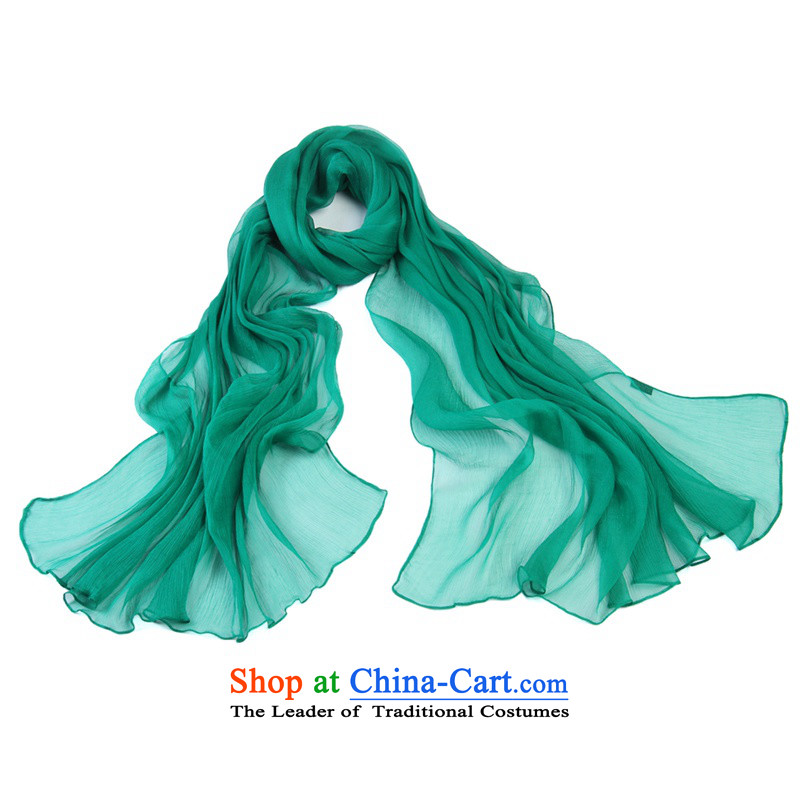 Shanghai Story silk scarves solid color scarf Ms. herbs extract fresh chiffon beach shawl 7#