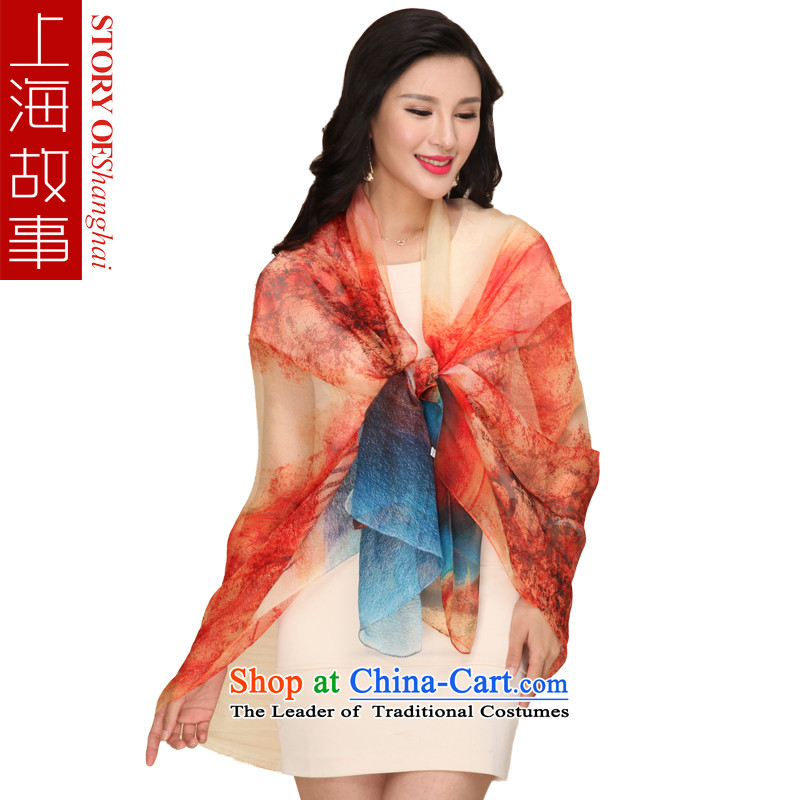 Shanghai Story silk scarves President Dos Santos silk chiffon stamp silk scarf shawl mirage
