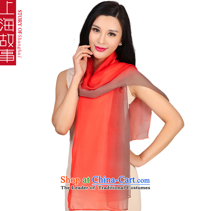 Shanghai Story2015 new silk scarfs sauna silk scarves long female spring and autumn wild gradient shawl two large red curry specifications