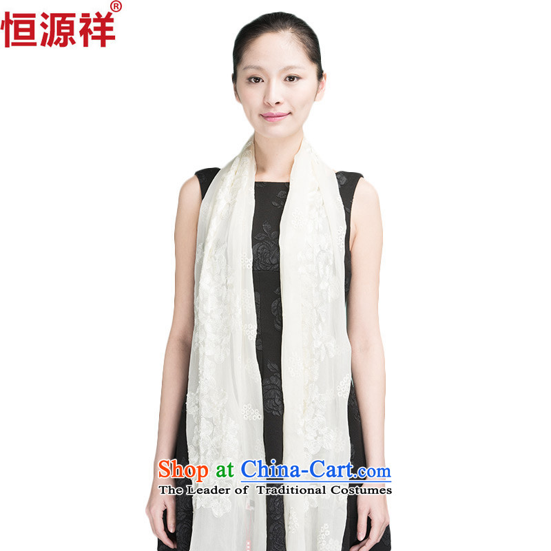 Ms. Cheung Hengyuan silk scarves spring and autumn, Solid Color summer sunscreen chiffon herbs extract large masks in long Solid Color Korean Air-conditioned rooms large shawl Milky White